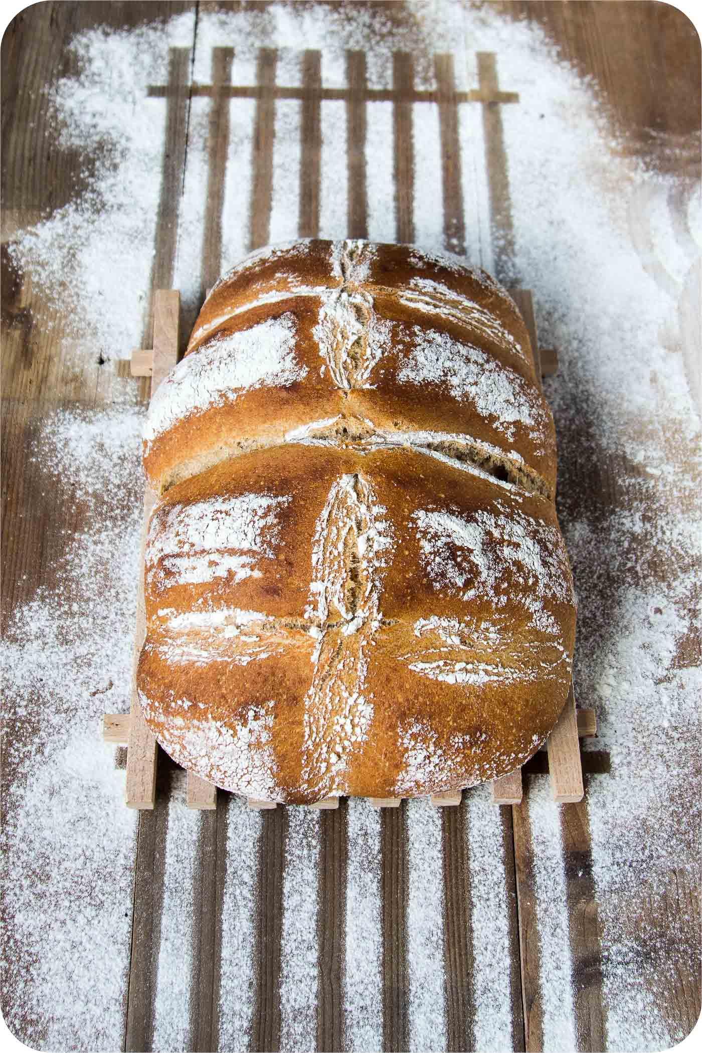 Dinkel-Molke-Brot mit hochwertigen, preiswerten Proteinen.
